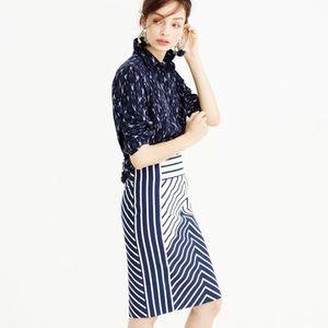 J Crew Chevron Stripe Pencil Skirt Size 00
